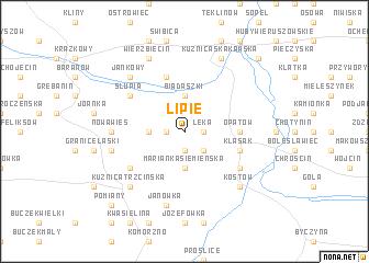 map of Lipie