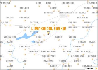 map of Lipinki Królewskie