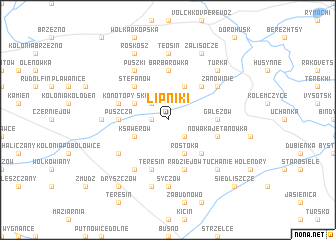 map of Lipniki