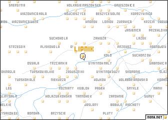 map of Lipnik