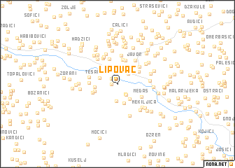 map of Lipovac