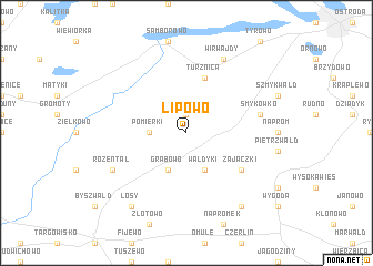 map of Lipowo