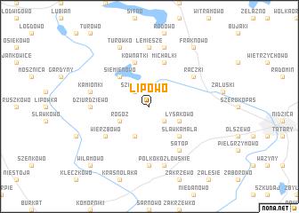 map of Lipowo