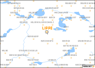 map of Lippe