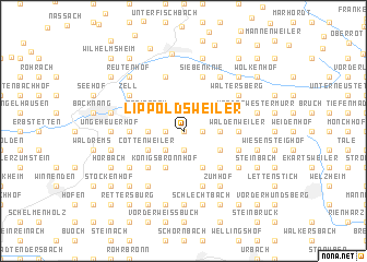map of Lippoldsweiler