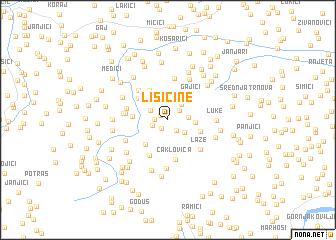 map of Lisičine