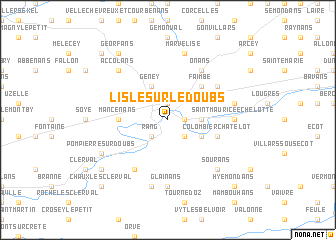 map of L'Isle-sur-le-Doubs