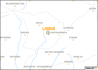 map of Lisovo