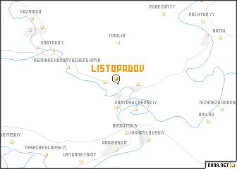 map of Listopadov