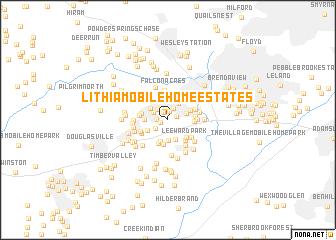 map of Lithia Mobile Home Estates