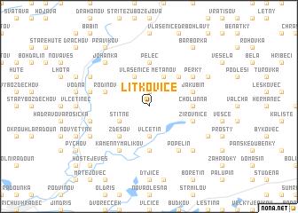 map of Lítkovice