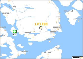 map of Litlebø