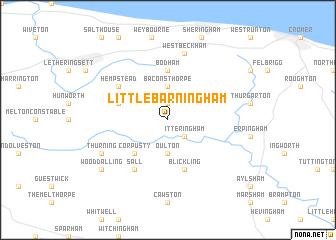 map of Little Barningham