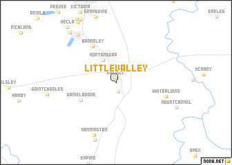 map of Little Valley