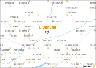 map of Liubavas