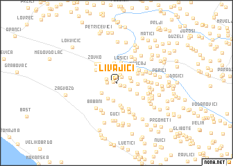 map of Livajići