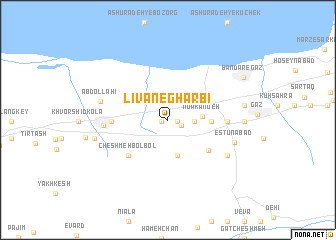 map of Līvān-e Gharbī