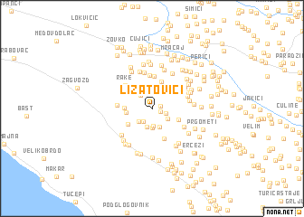map of Lizatovići