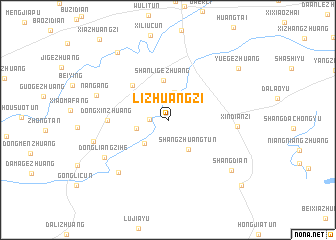 map of Lizhuangzi