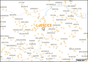 map of Lješčice