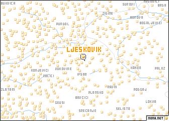 map of Ljeskovik