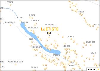 map of Ljetište