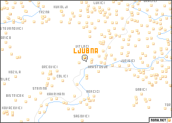 map of Ljubna