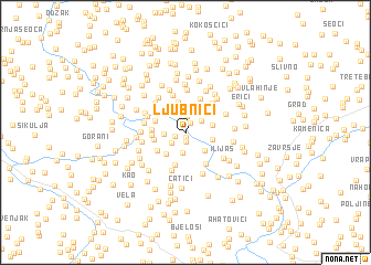 map of Ljubnići