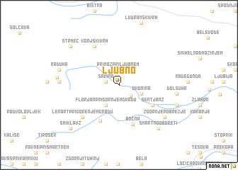 map of Ljubno