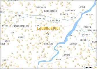map of Ljubojevići