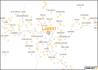 map of Ljusići