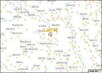 map of Ljutac