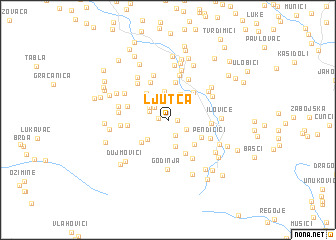 map of Ljutca