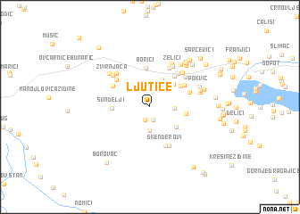 map of Ljutice