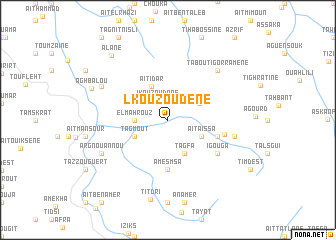 map of Lkouzoudene