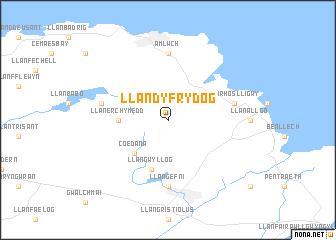 map of Llandyfrydog