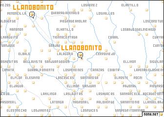 map of Llano Bonito