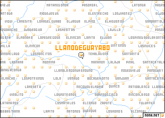 map of Llano de Guayabo