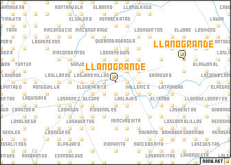 map of Llano Grande