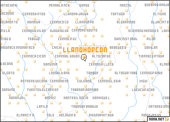map of Llano Horcón