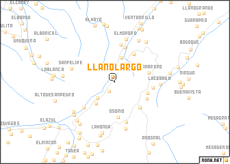 map of Llano Largo