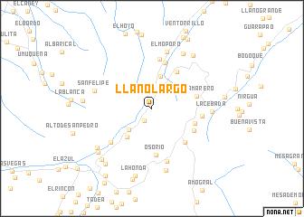 map of Llano Largo