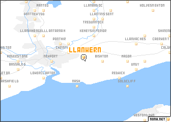 map of Llanwern