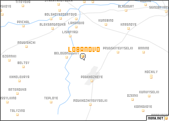 map of Lobanovo