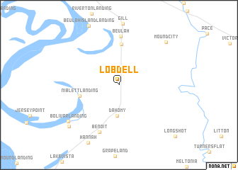 map of Lobdell