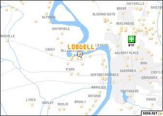 map of Lobdell