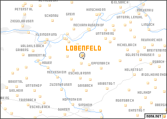 map of Lobenfeld