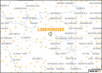 map of Lobenhausen