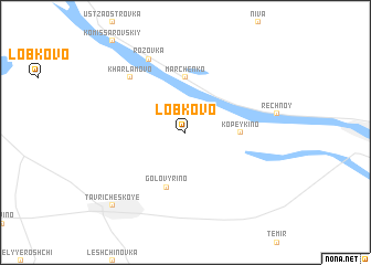 map of Lobkovo