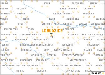 map of Łobudzice